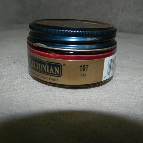 Handbags - Meltonian Shoe Cream RED #107 Original Full Jar